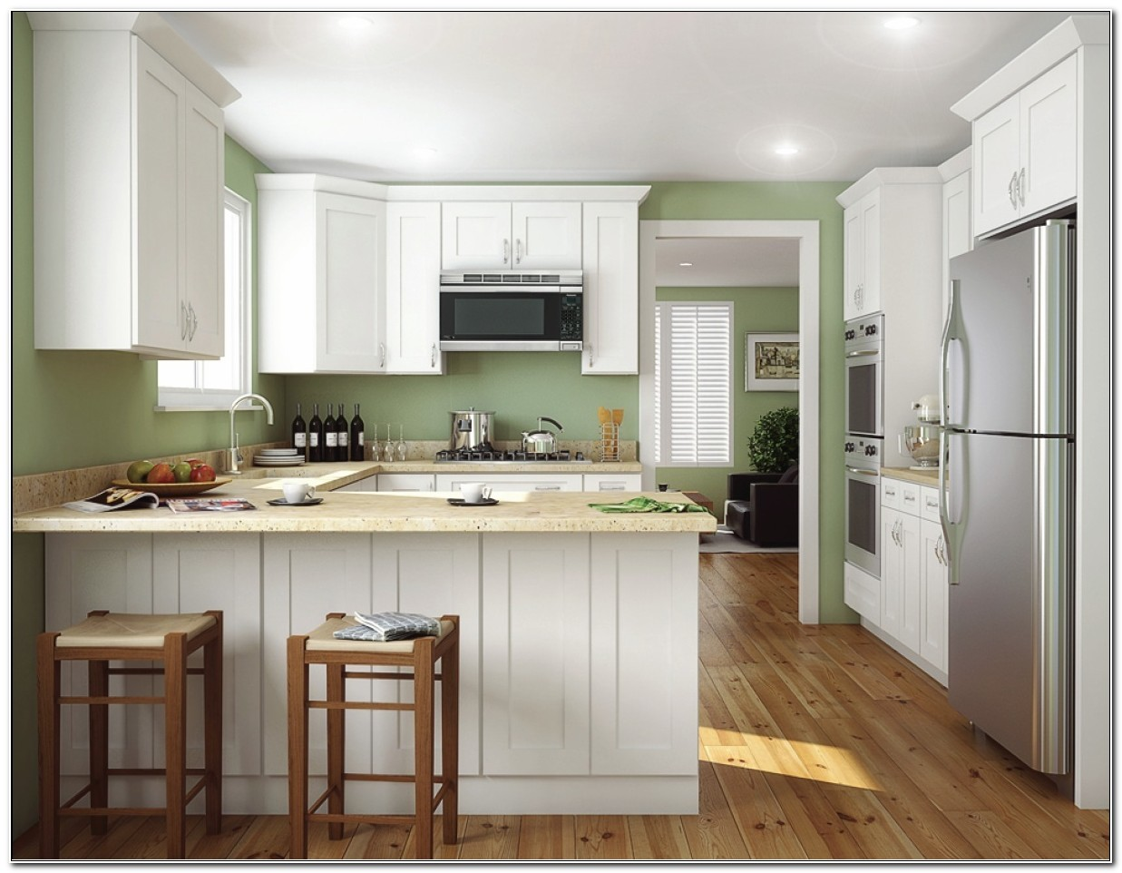 Rta White Shaker Kitchen Cabinets