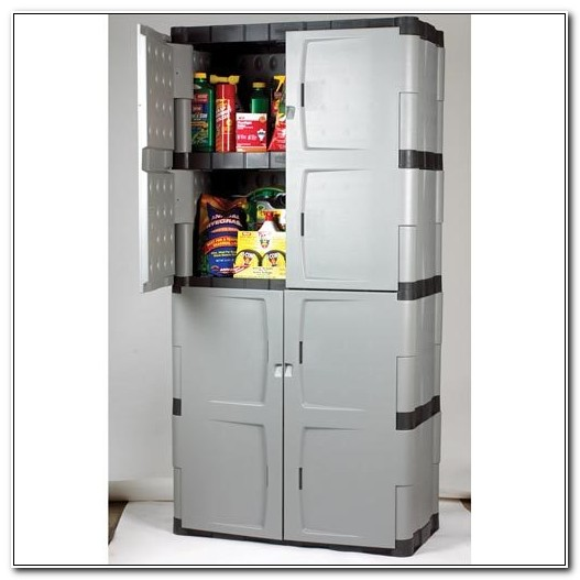 Rubbermaid Garage Storage Cabinet Large Utility Unit