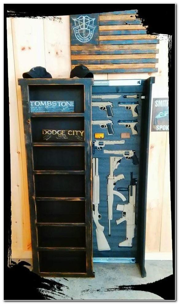 Rustic Furniture Hidden Gun Cabinet