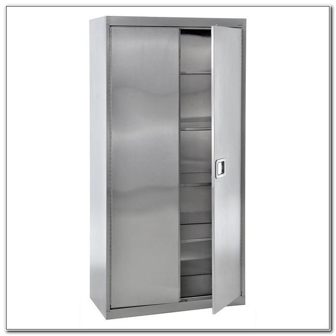 Sandusky Stainless Steel Storage Cabinet