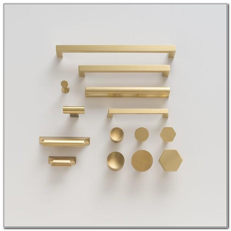 Satin Brass Cabinet Hinges