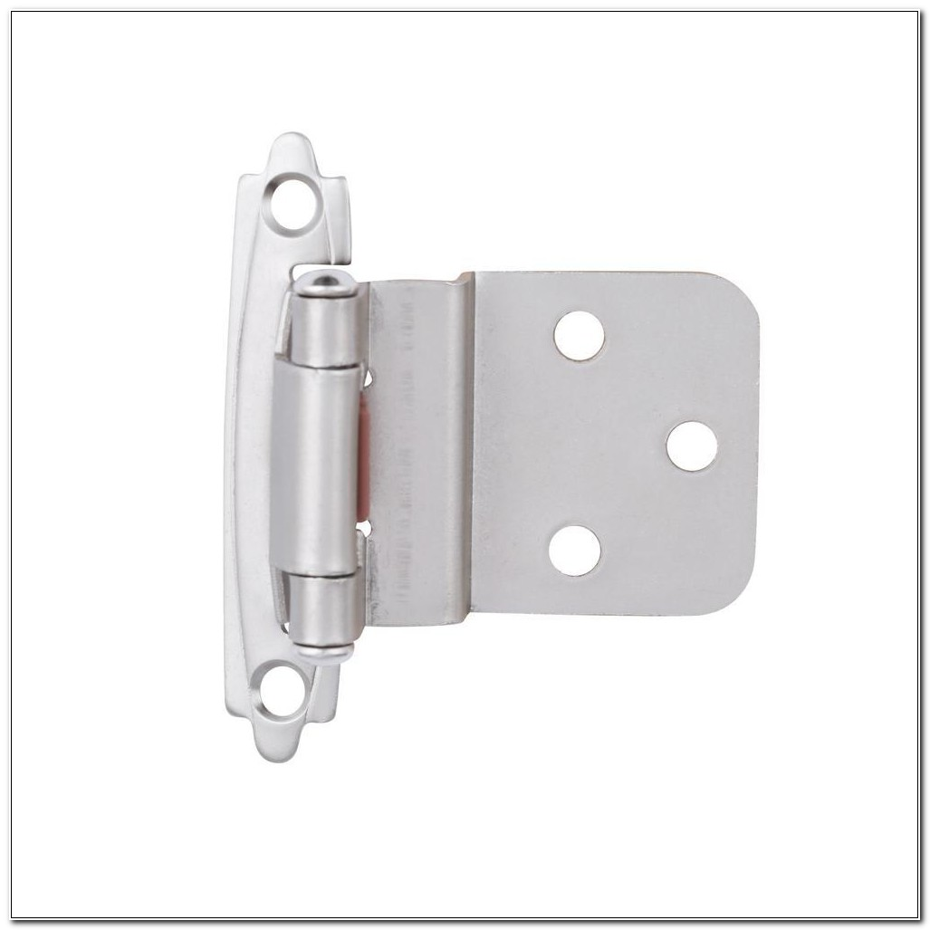 Satin Nickel Cabinet Hinge 38 Inset