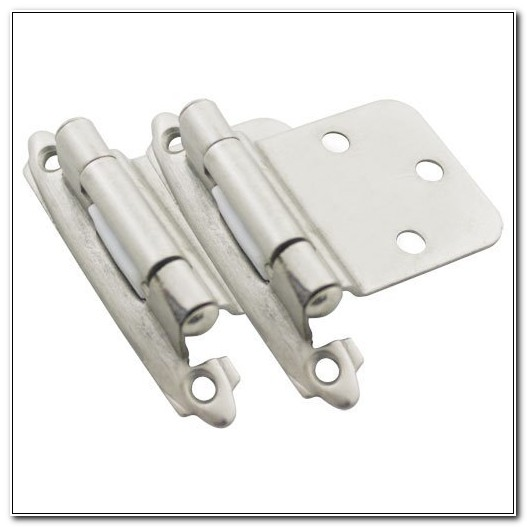 Satin Nickel Reverse Bevel Cabinet Hinges