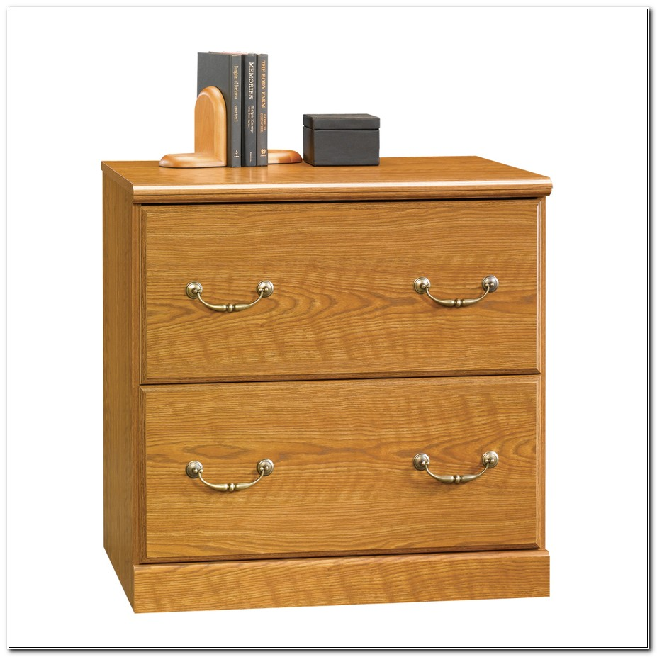 Sauder 2 Drawer File Cabinet Oak