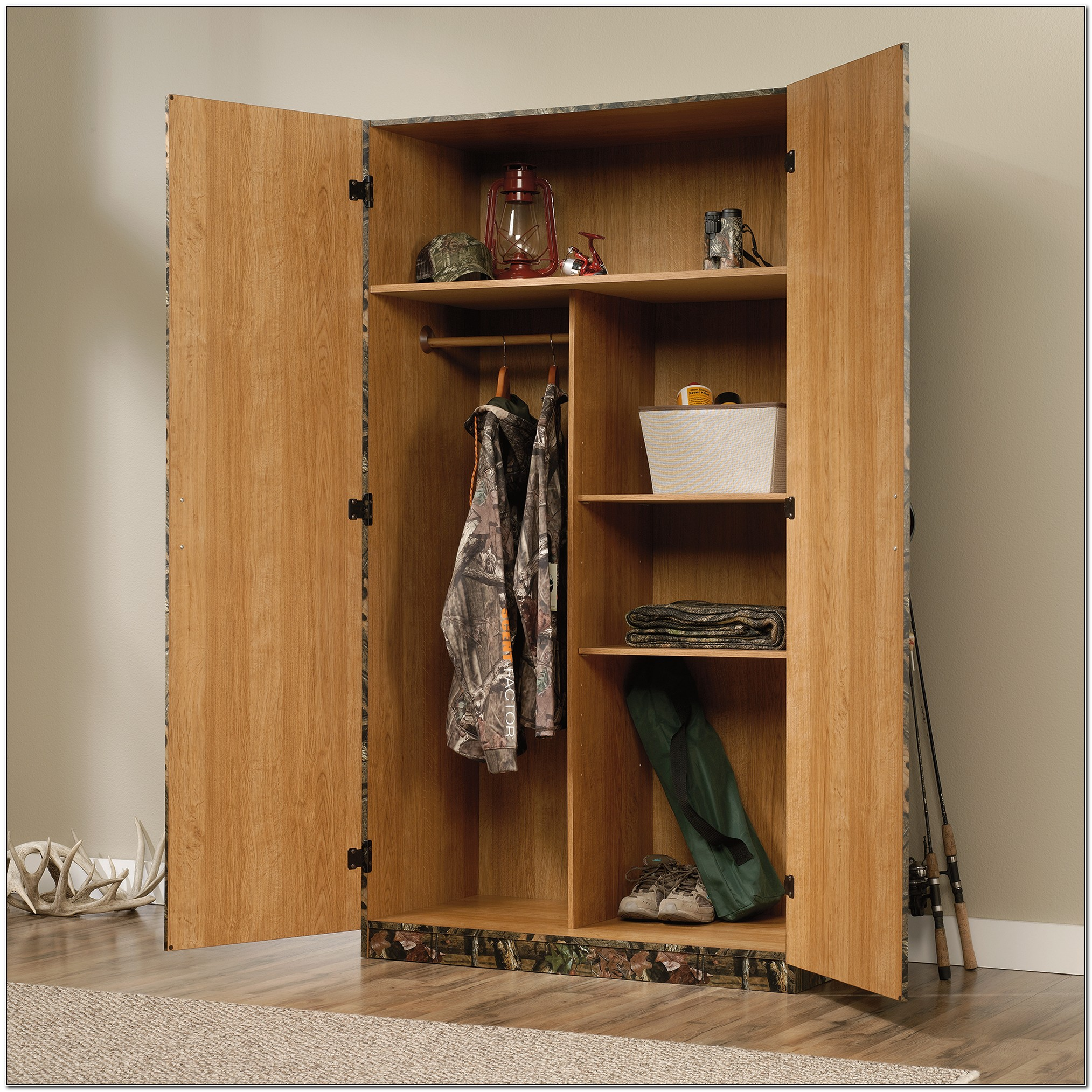 Sauder Beginnings Wardrobe Storage Cabinet Oregon Oak
