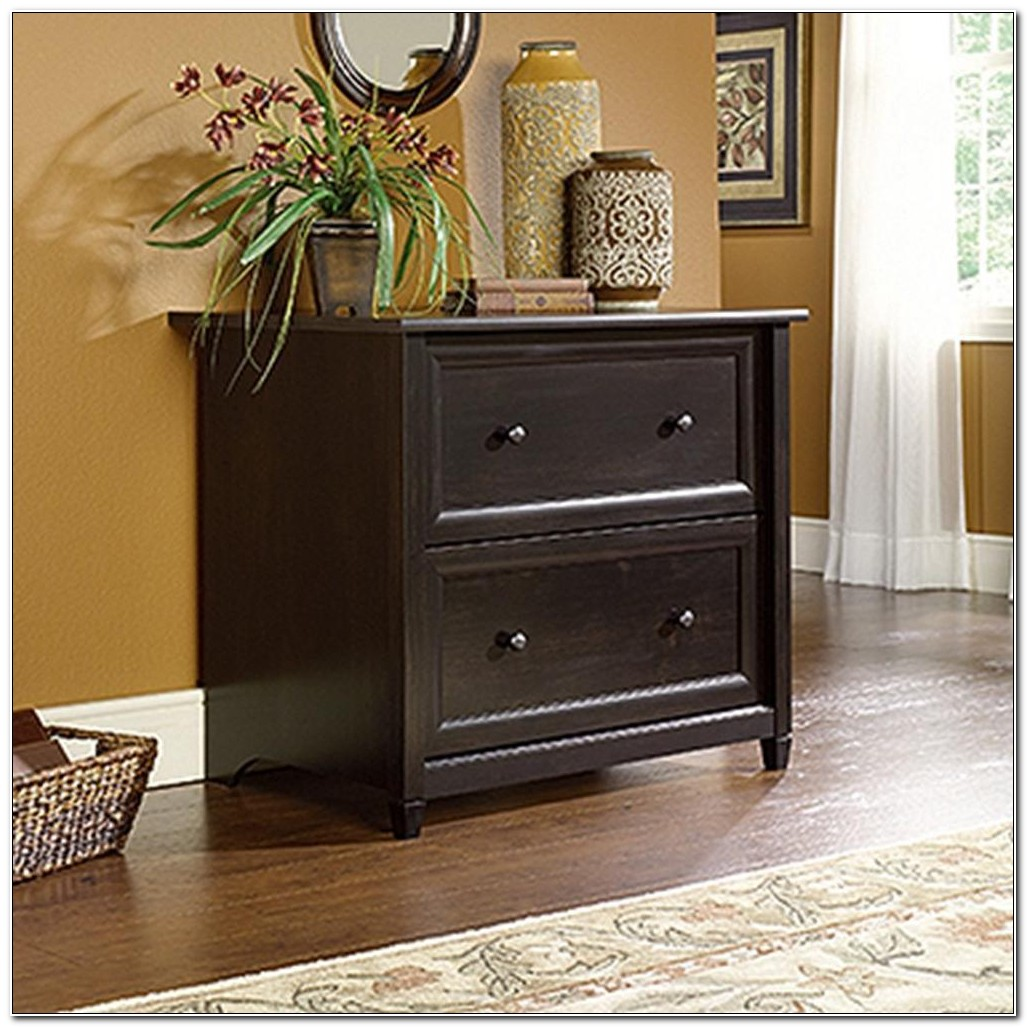 Sauder Lateral File Cabinet Black