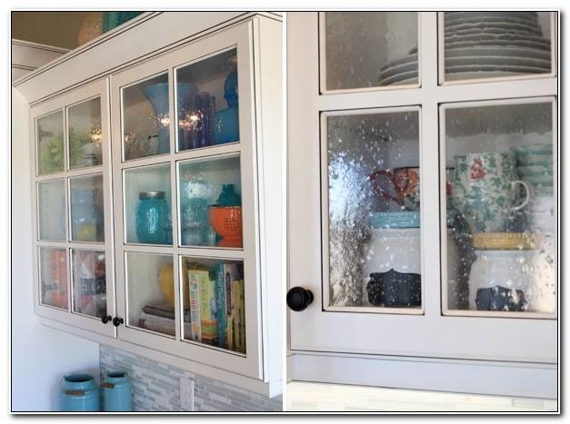 Seeded Glass Cabinet Door Inserts