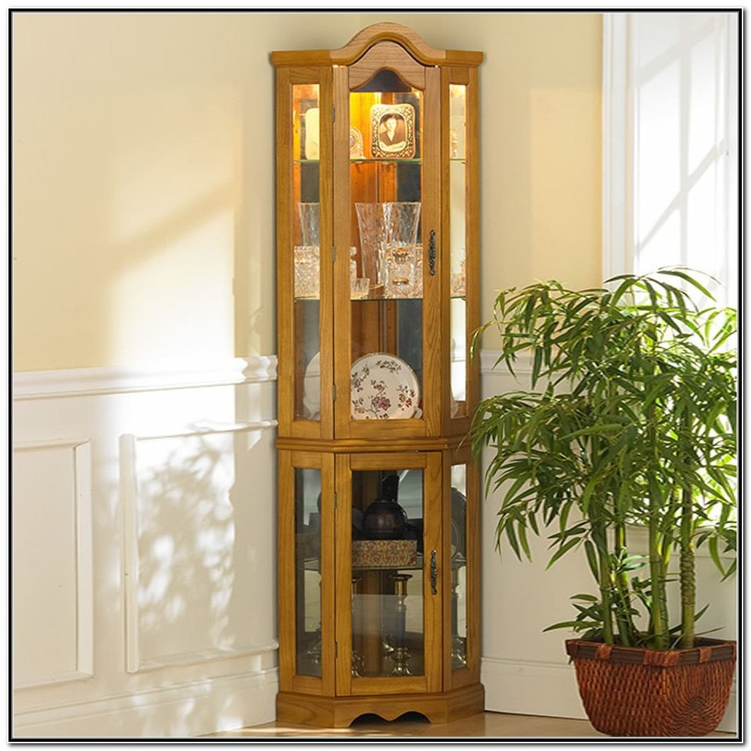 Sei Lighted Corner Curio Cabinet