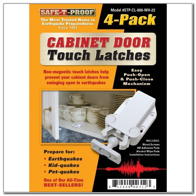 Seismic Resistant Cabinet Door Push Latch