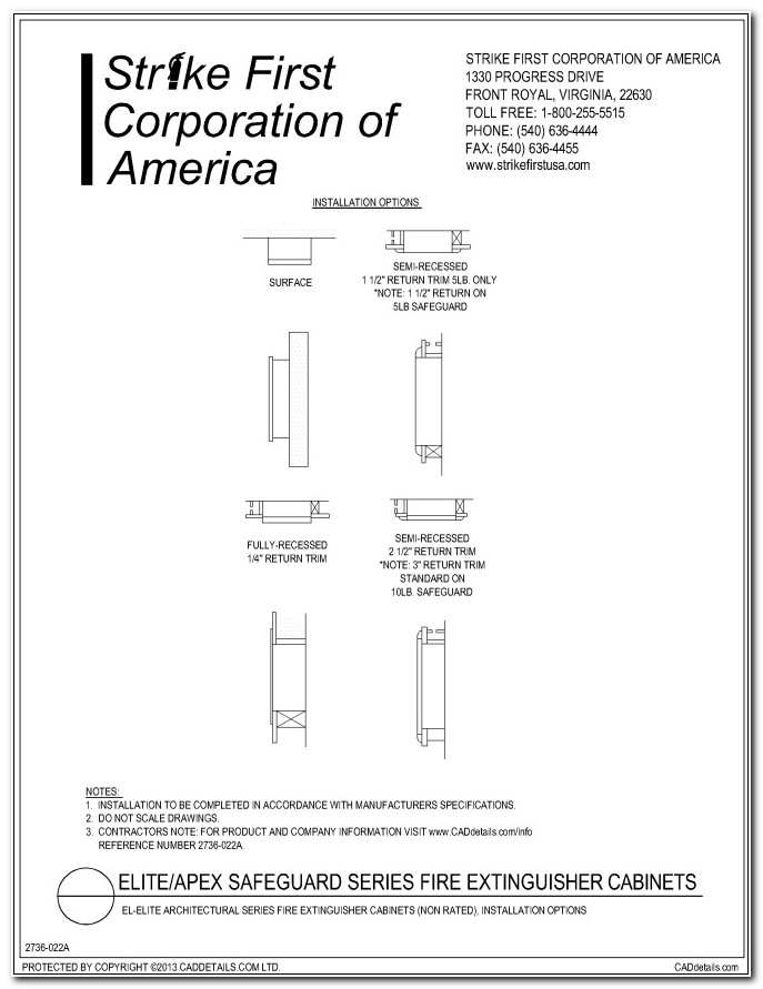 Semi Recessed Fire Extinguisher Cabinet Cad