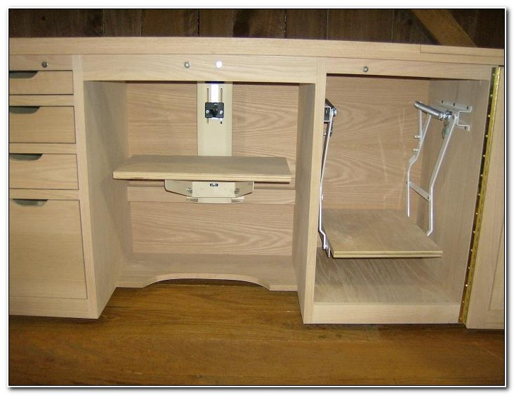 Sewing Machine Cabinet With Lift