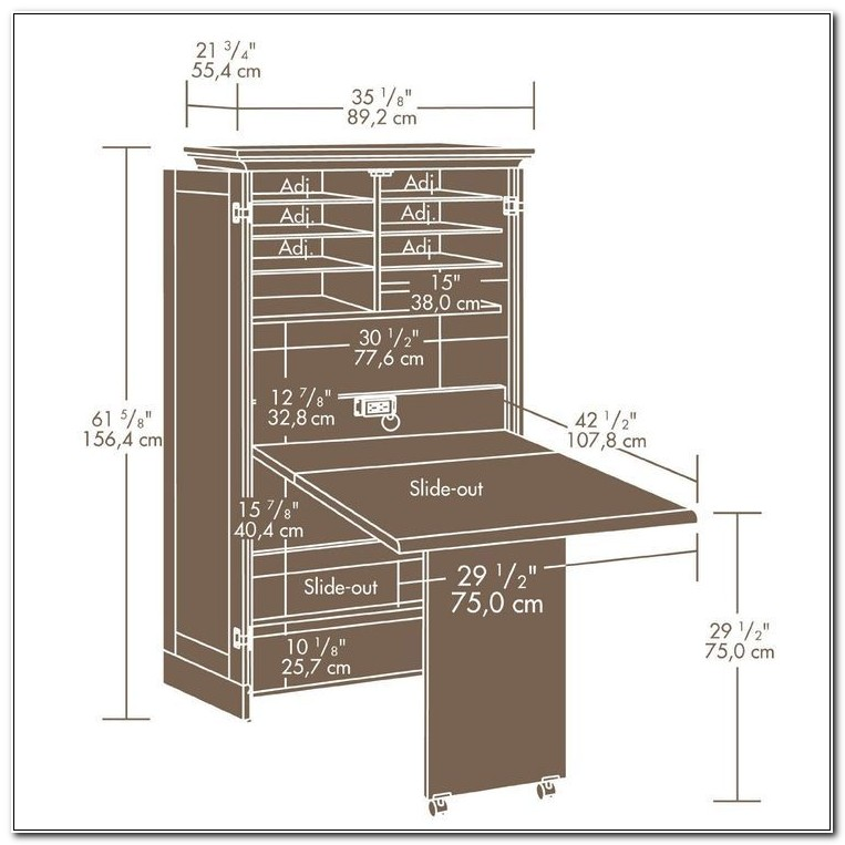 Sewing Machine Storage Armoire