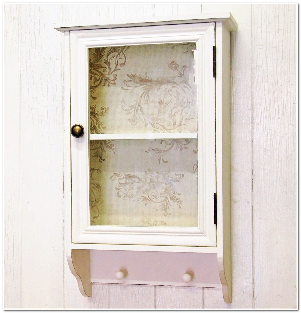Shabby Chic Bathroom Wall Cupboard