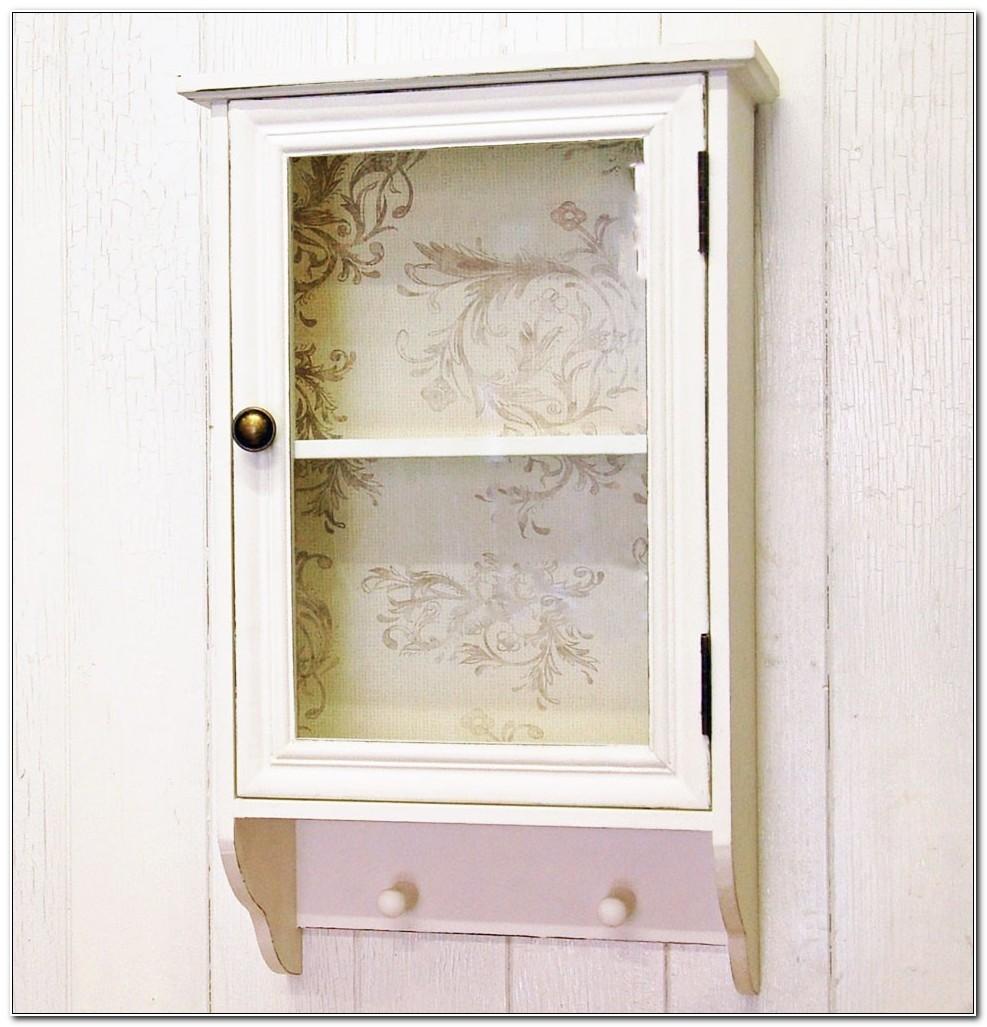Shabby Chic Bathroom Wall Cupboard