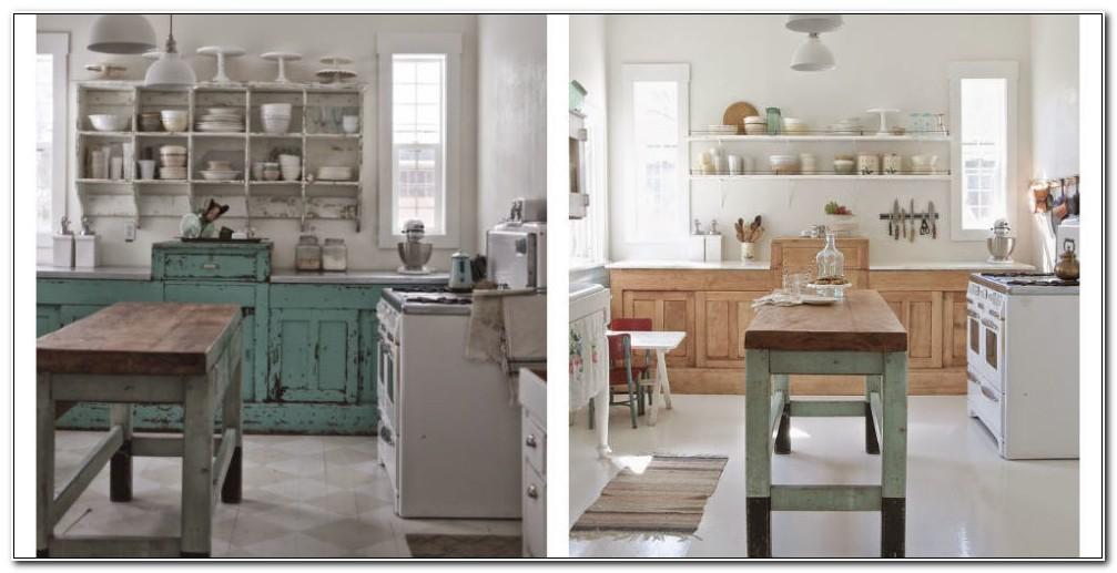 Shabby Chic Kitchen Cabinet Makeover
