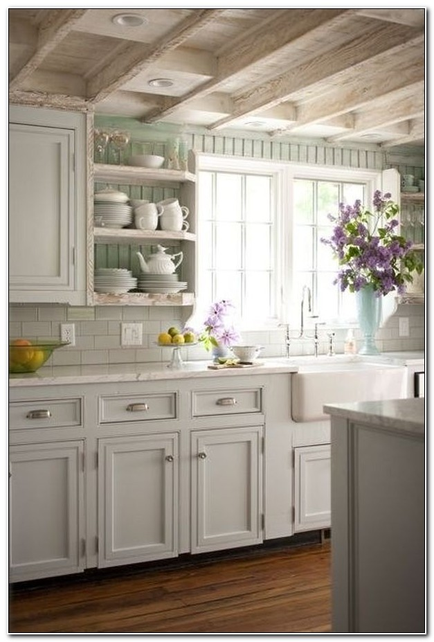 Shabby Chic Kitchen Cabinets Pinterest