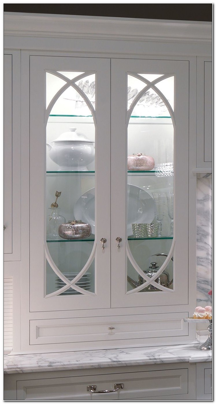 Shallow Cabinet With Glass Doors
