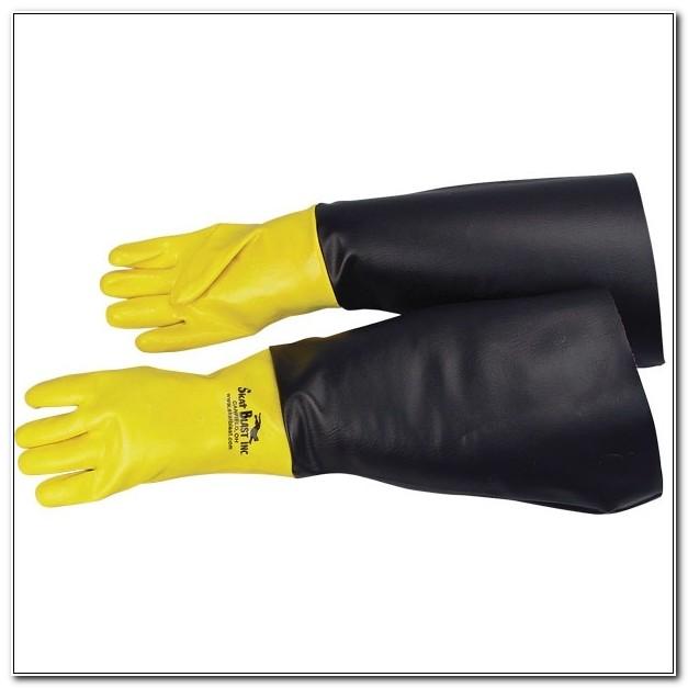 Shot Blasting Cabinet Gloves