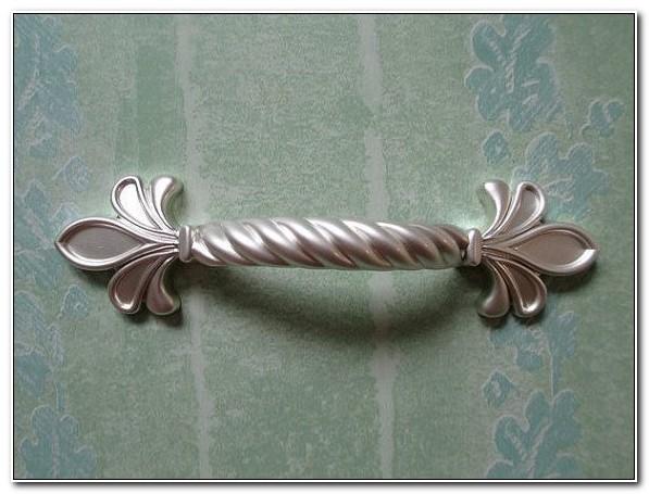 Silver Fleur De Lis Drawer Pulls