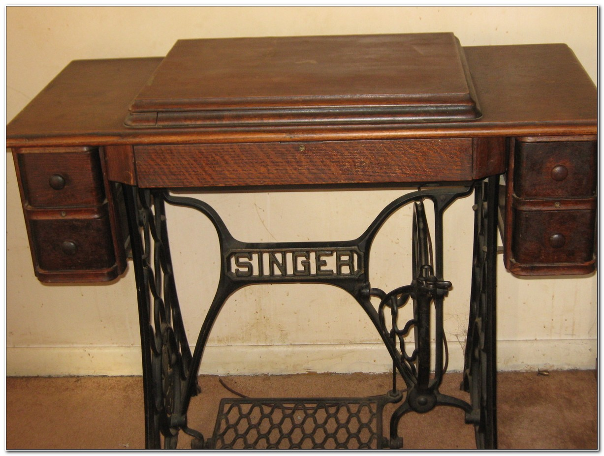 Singer Sewing Machine Cabinets Antique