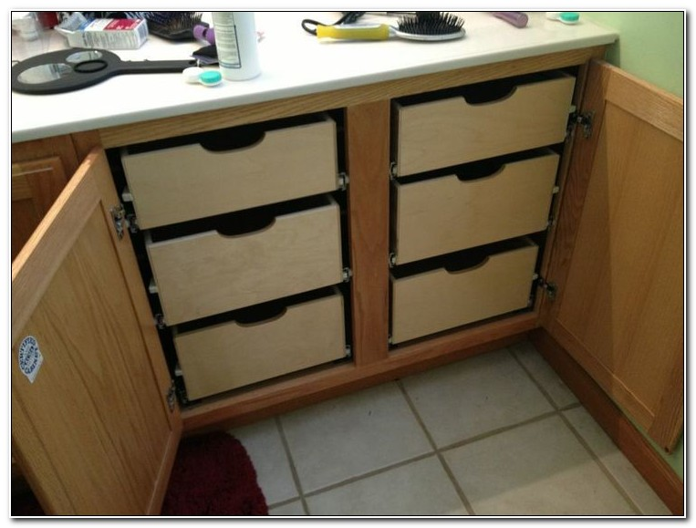 Sliding Drawers For Bathroom Cabinets