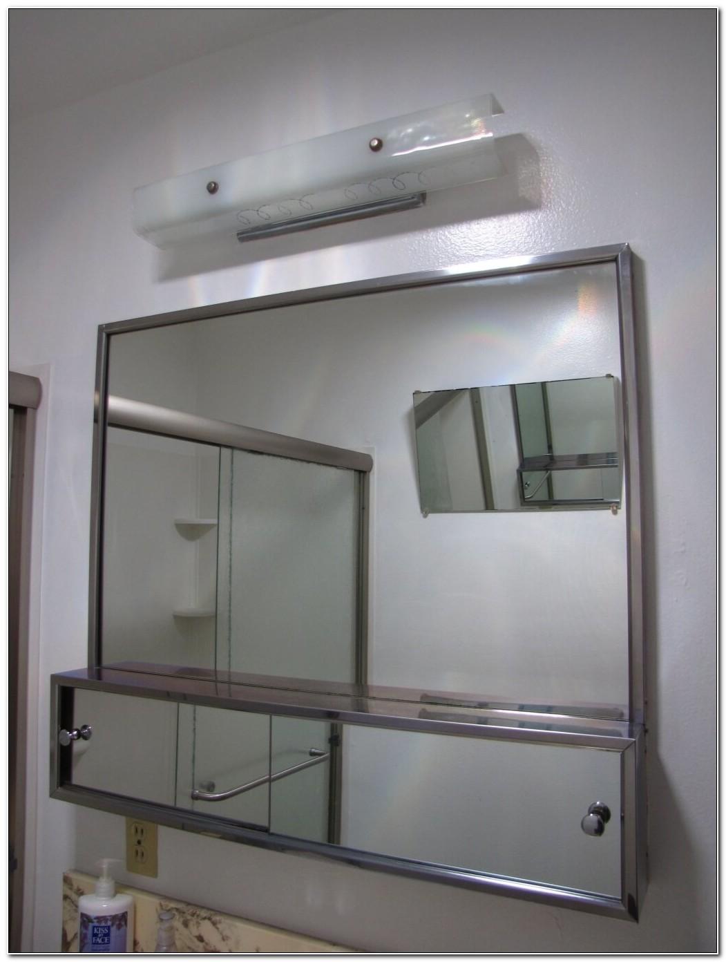 Sliding Glass Mirror Medicine Cabinet