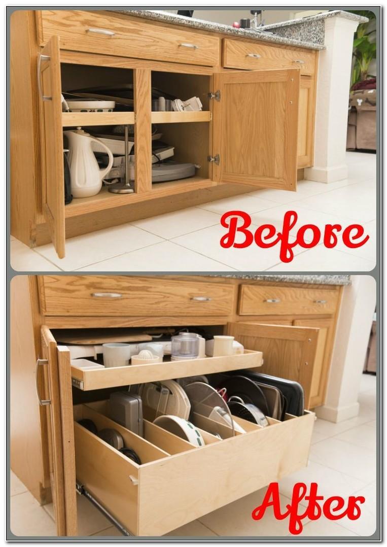Sliding Shelves For Existing Kitchen Cabinets