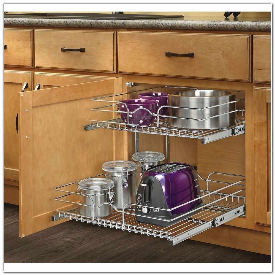 Sliding Shelves For Kitchen Cabinets Wire