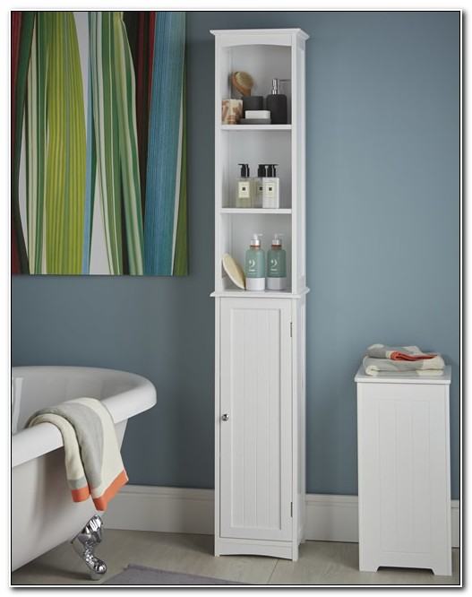 Slim Bathroom Storage Cupboard