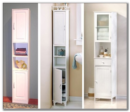 Slim Storage Cabinet For Bathroom