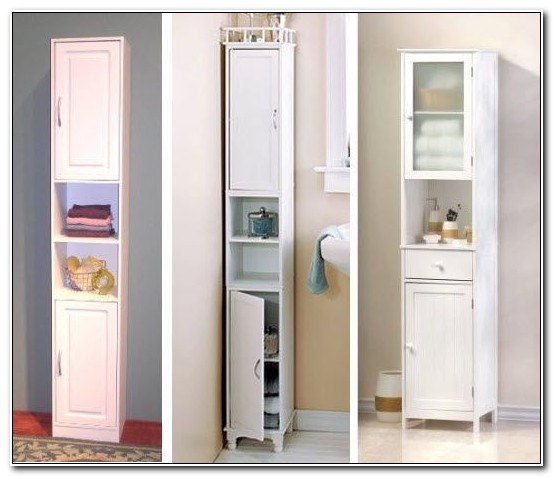 Slim Storage Cabinets For Bathroom