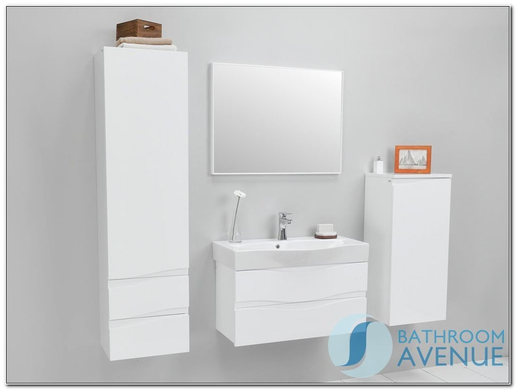 Slim Wall Mounted Bathroom Cabinets