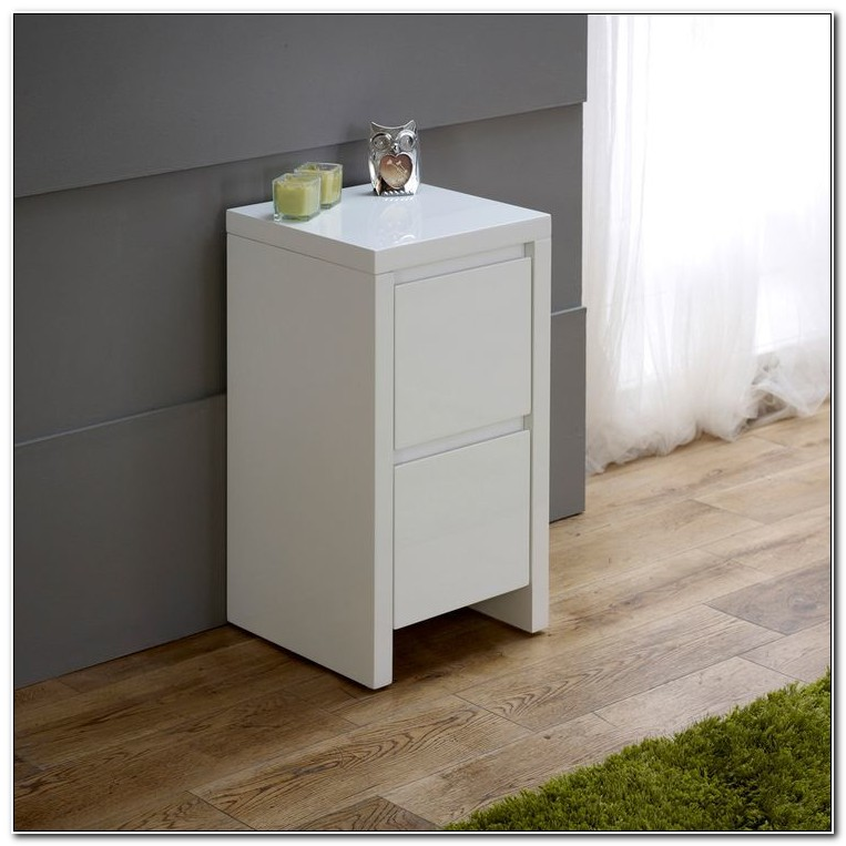 Slimline Bedside Tables White