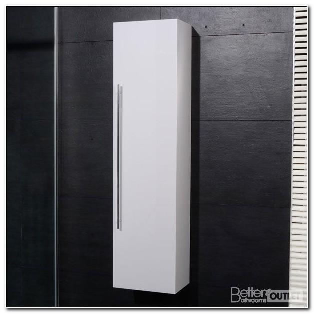 Slimline White Gloss Bathroom Wall Cabinet