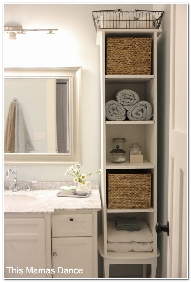 Small Bathroom Storage Cupboard