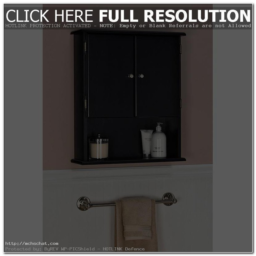 Small Bathroom Wall Cabinet Black