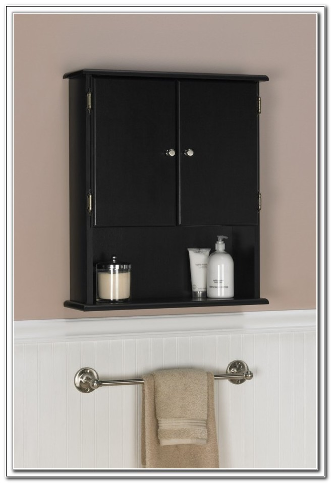 Small Bathroom Wall Cabinets Black