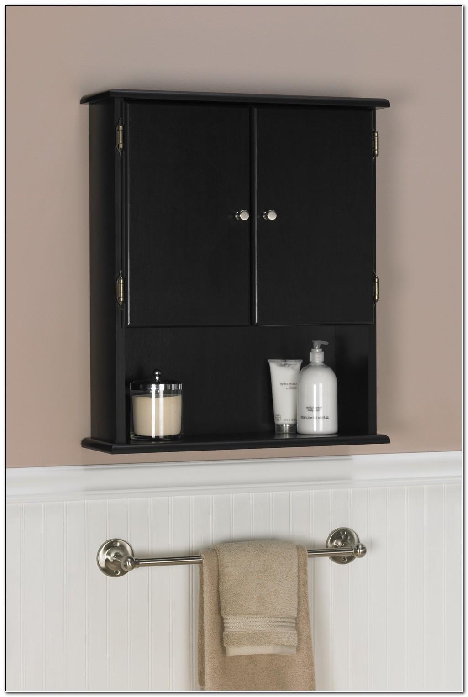Small Black Bathroom Wall Cabinet