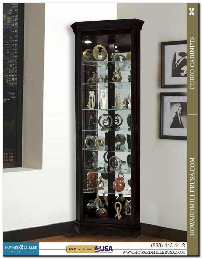 Small Black Corner Curio Cabinet