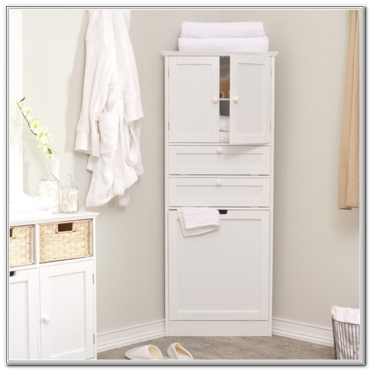 Small Corner Bathroom Floor Cabinet