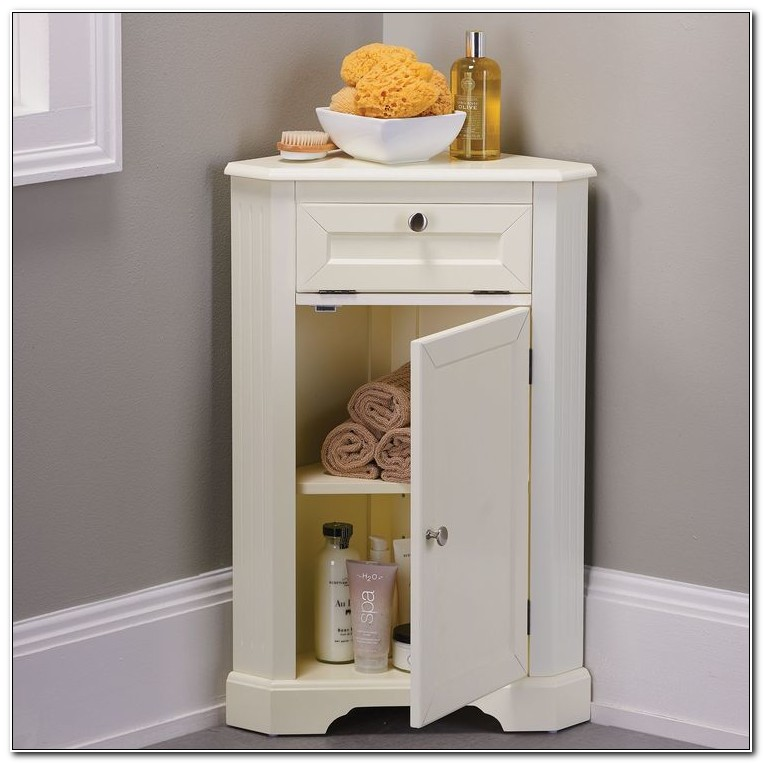 Small Corner Cabinet For Bathroom