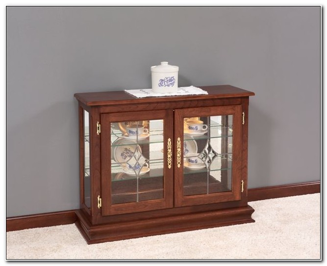 Small Curio Cabinets With Glass Doors