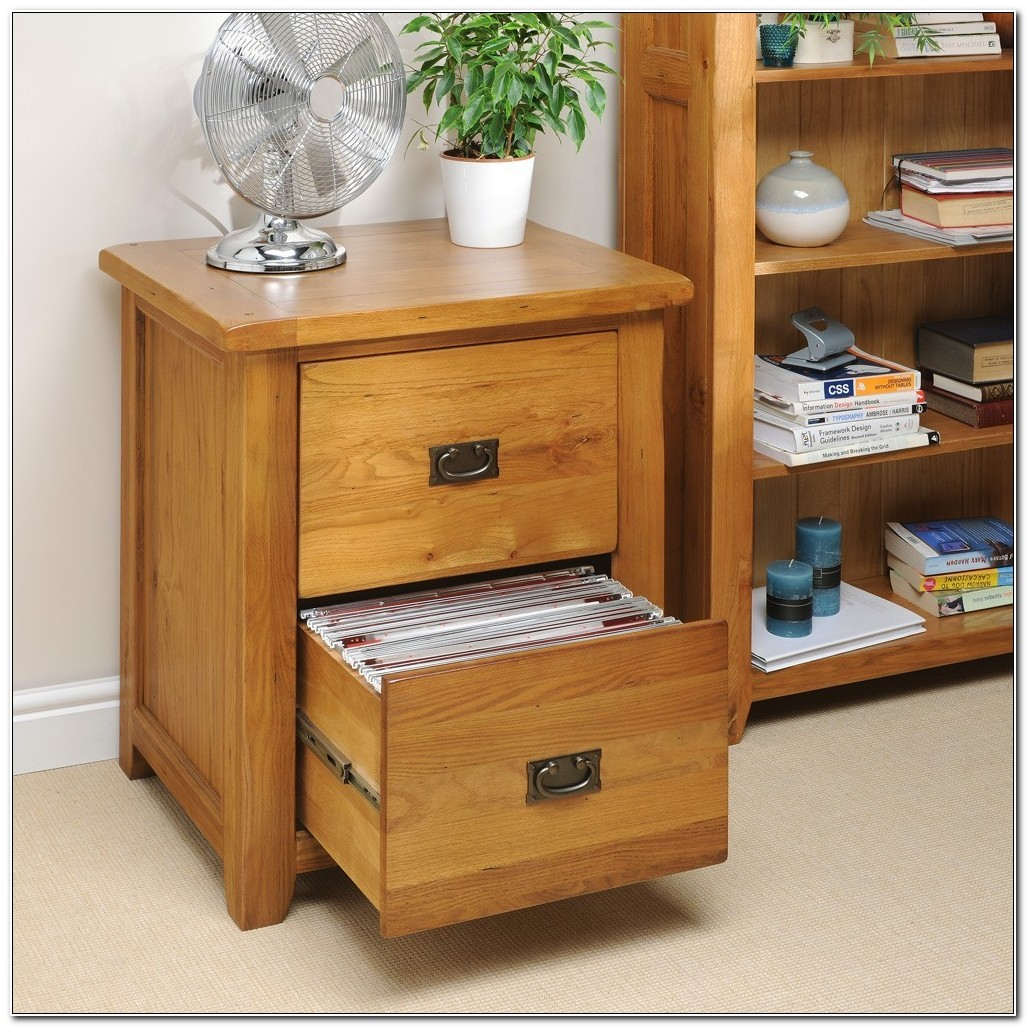 Small Dark Wood Filing Cabinet