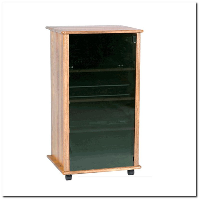 Small Glass Door Stereo Cabinet