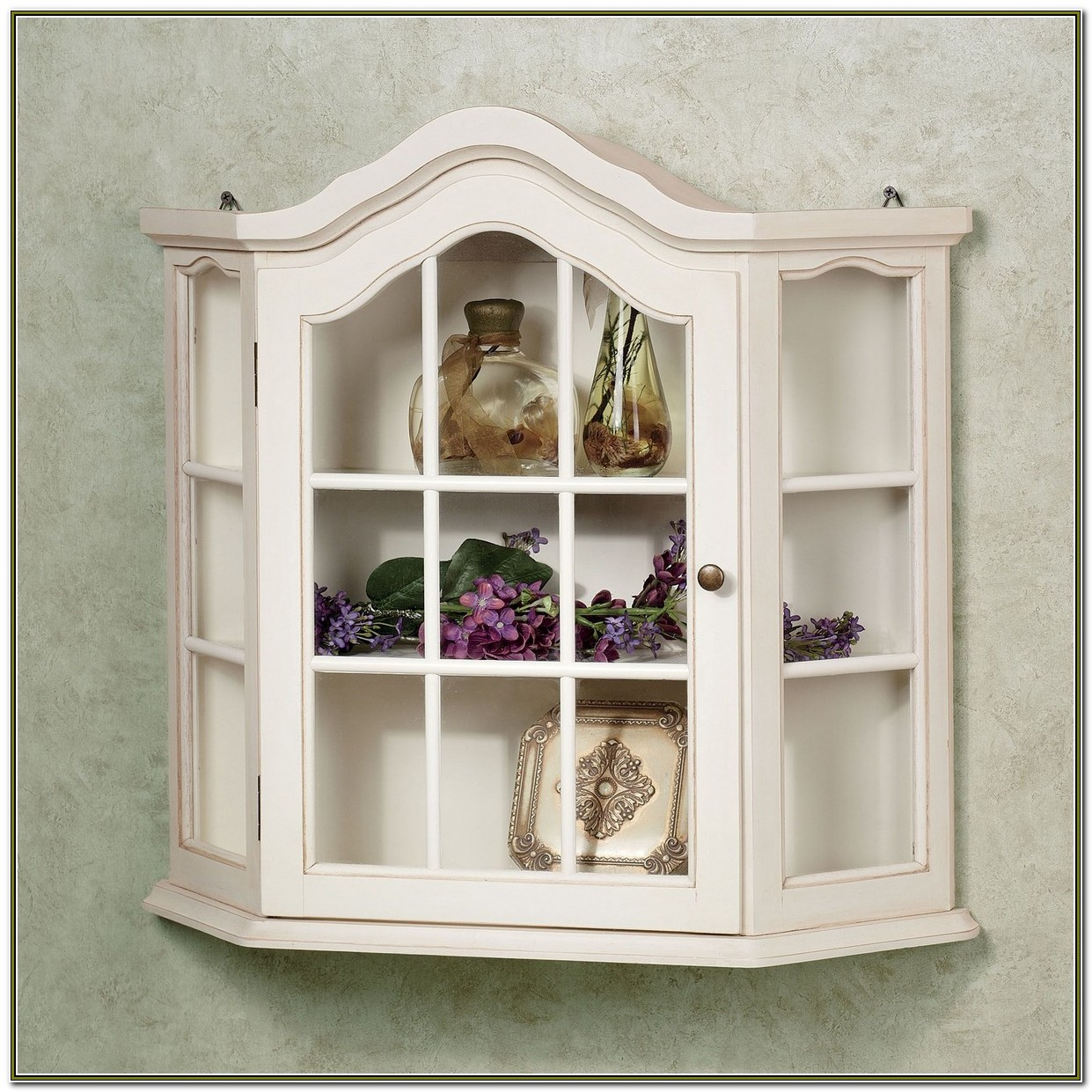 Small Glass Wall Curio Cabinet