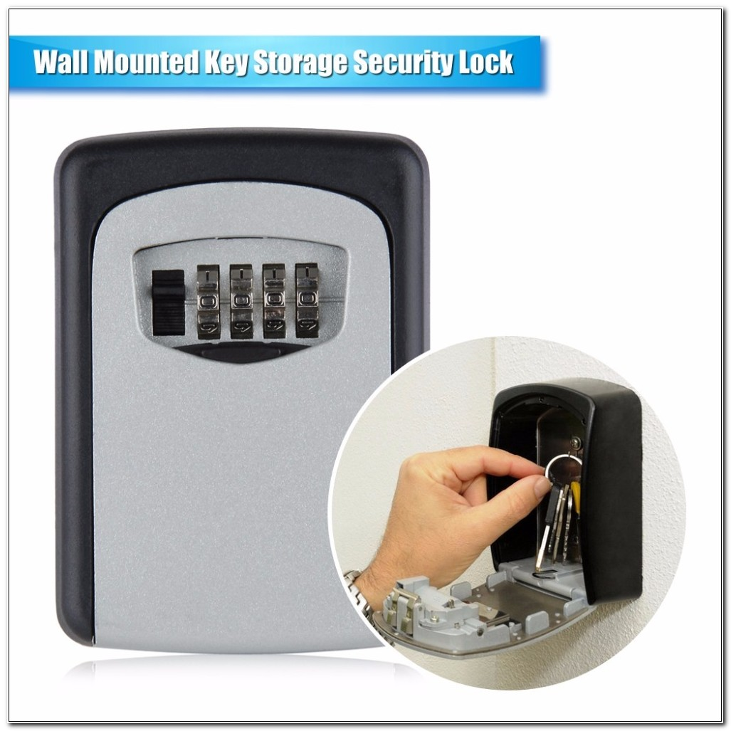 Small Key Cabinet With Combination Lock