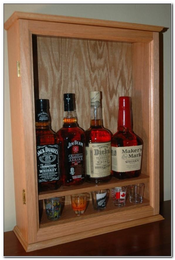 Small Lockable Liquor Cabinet