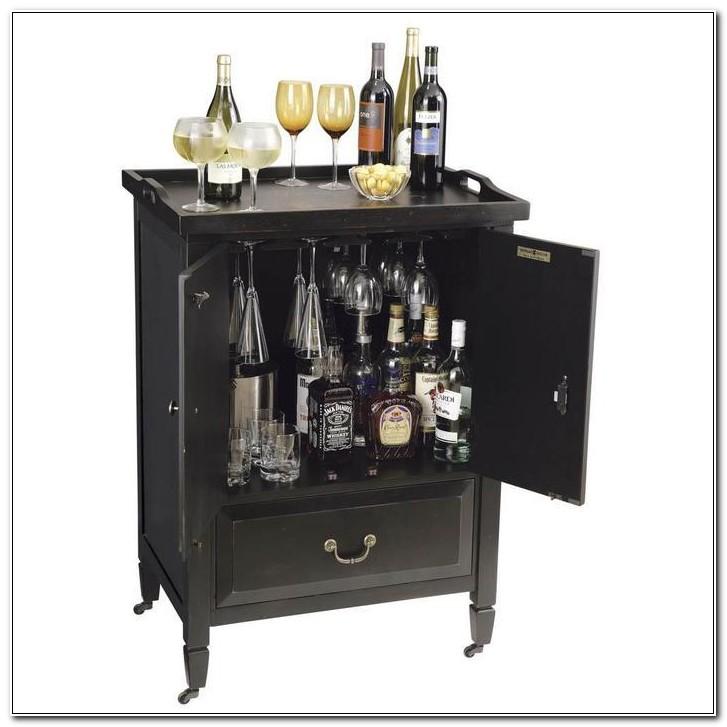 Small Locking Liquor Cabinet