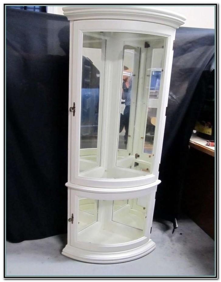 Small White Corner Curio Cabinet
