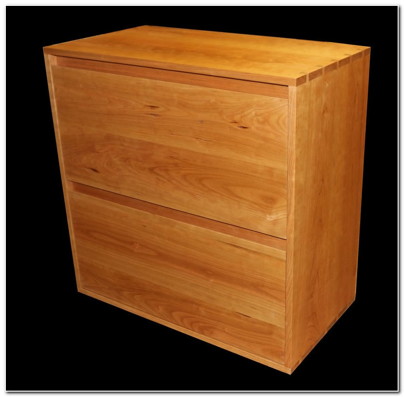 Solid Cherry Lateral File Cabinet